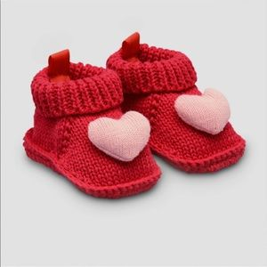 Baby Girl's Knitted Heart Sippers
